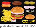burger, hamburger, food 41918855