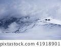 山庄 山区别墅 粉状的雪 41918901
