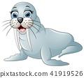 Cute walrus cartoon 41919526