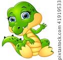 Funny crocodile cartoon 41919533