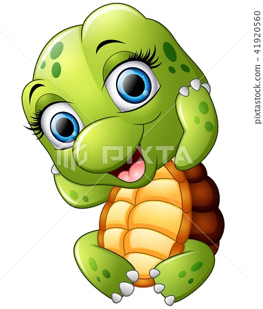 Cute turtle cartoon isolated on white background 41920560