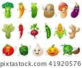 Funny various cartoon vegetables 41920576