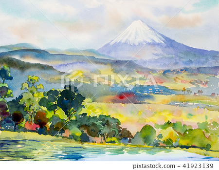 Mount Fuji and Lake, Mountain range 41923139