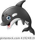 Happy killer whale cartoon 41924819