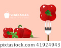 Fresh red bell peppers background 41924943