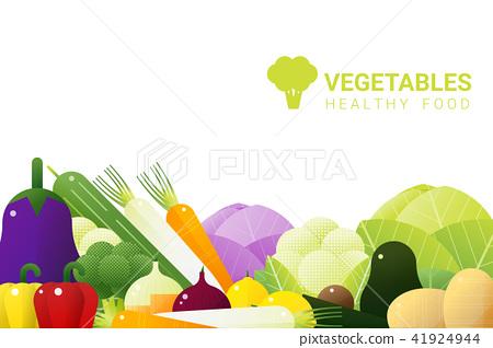 Fresh vegetables on white background 41924944