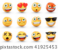 3D Rendering set of emoji isolated on white 41925453