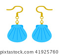 earrings, sea-shell, shell 41925760