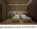 Asian style of Twin bed in Hostel , 3d Rendering 41925991