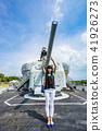亚洲台湾台南军舰安平女人女性人像战舰船只渔船德阳舰 41926273