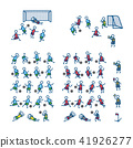Football, soccer players in action poses. Color vector illustration. Icon style set 41926277