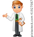 Happy young doctor cartoon 41927087
