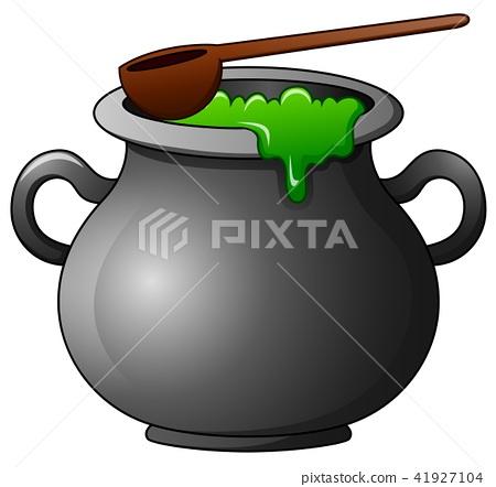 Witch cauldron cartoon 41927104