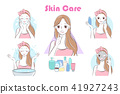 beauty cartoon skin care woman 41927243