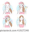 beauty cartoon skin care woman 41927246