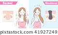 woman with blackhead problem 41927249