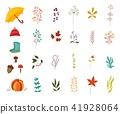 set, autumn, plant 41928064