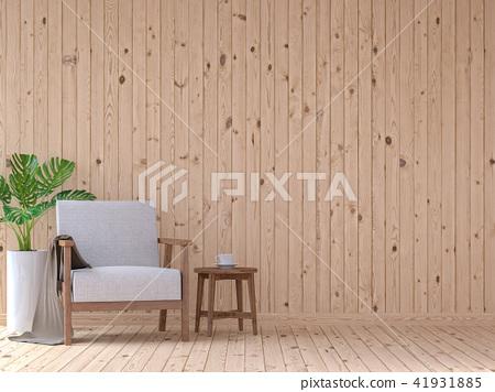 Modern vintage living room interior 3d render 41931885