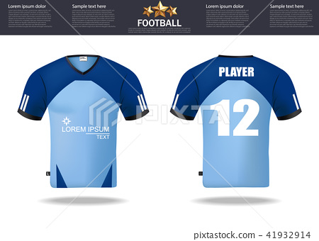 Football t-shirts Vector. Design template 41932914