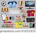 Football set collection Vector realistic. Mock up 41932935