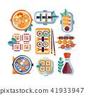 food, vector, sushi 41933947