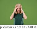 headache, young, woman 41934034