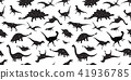 dinosaur Seamless Pattern dino vector isolated 41936785