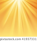 Yellow sun rays with orange flare 41937331