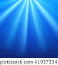 Blue rays flare on navy background 41937334