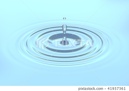 Water drop falling on water surface background 41937361