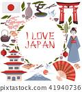 japanese symbols poster 41940736