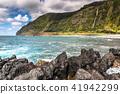 Azores coastline landscape in Faja Grande,  41942299