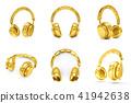 golden, gold, headphones 41942638