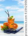Orange lemonade with mint. 41942906