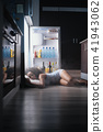 woman, sleeping, fridge 41943062