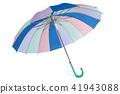 Pastel colored umbrella. 41943088