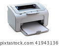 Laserjet printer on white. 41943136