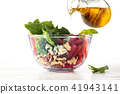 Spinach salad in bowl. 41943141