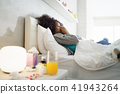 sick, woman, bed 41943264