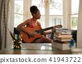 woman, playing, guitar 41943722