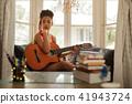 woman, guitar, female 41943724