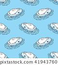Seal Seamless Pattern sea lion walrus vector 41943760