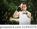 Asian thai boxing 41945076