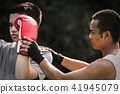 Asian thai boxing 41945079
