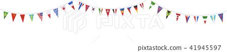 國旗的旗幟 41945597