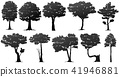set of tree silhouette 41946881