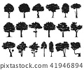 set of tree silhouette 41946894