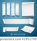 White paper roll collections for business design 41951749