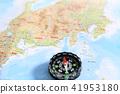 일본지도와 나침반 41953180