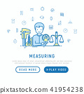 Measuring concept with thin line icons 41954238